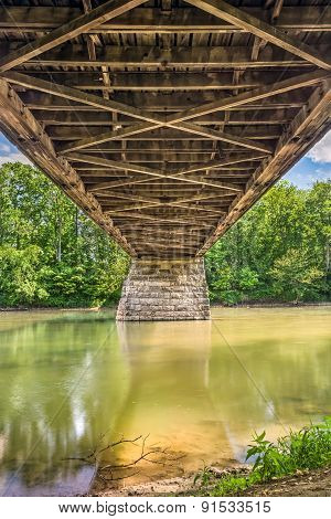 Beneath Potter's Covered Bridge
