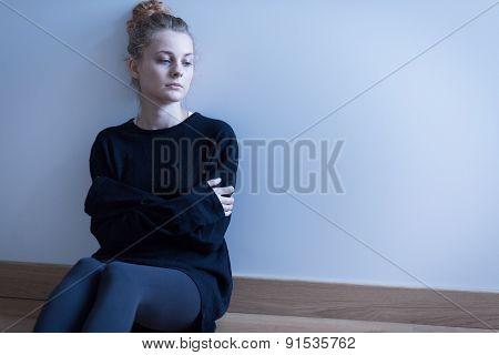 Young Woman With Anxiety Disorder