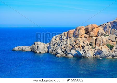 Grey Rocks In Capo Testa Coastline