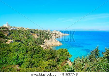 Capo Testa Coastline On A Clear Summer Day