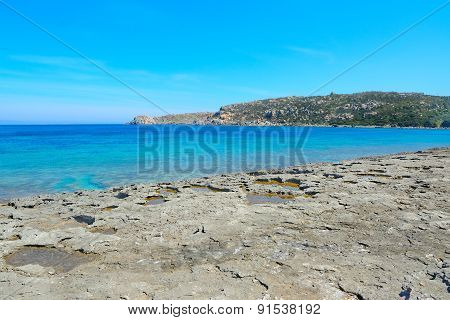 Grey Rocks In Capo Testa