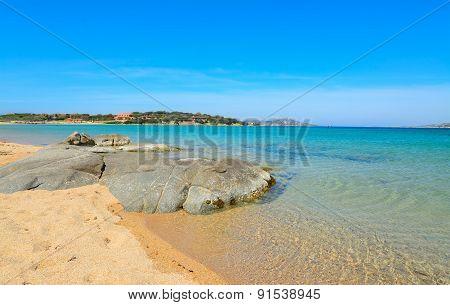 Grey Rocks In Porto Pollo Beach