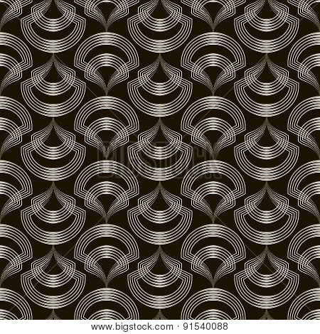 Seamless Pattern Sylish Ornament. Geometric Background Vector Repeating