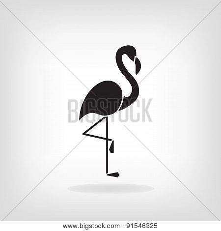 Stylized silhouette of a Flamingo