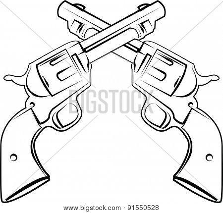 crossed pistols
