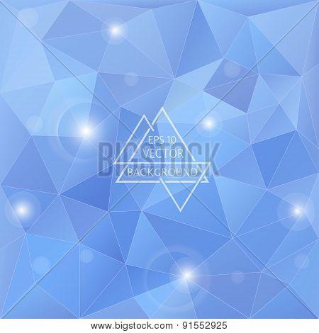Polygon blue background