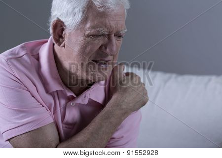 Senior With Shoulder Pain