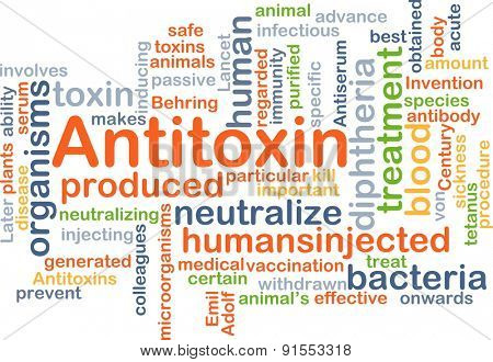Background concept wordcloud illustration of antitoxin