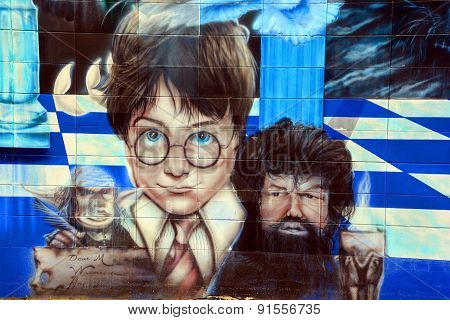 Street art Harry Potter