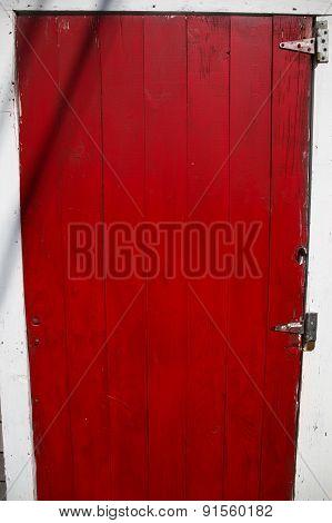 Red door in Menemsha MA