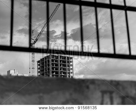Single High-rise Condominium In Black And White