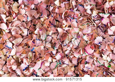 Background Texture Of Colored Wood Shavings