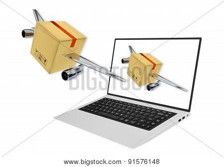 Rapid Delivery Concept 3D Render Illustration