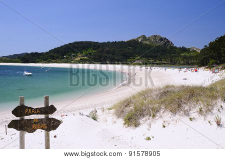 Islands Cies In Vigo, Spain.