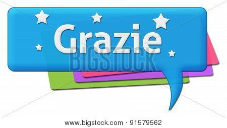 Grazie Colorful Comment Symbol