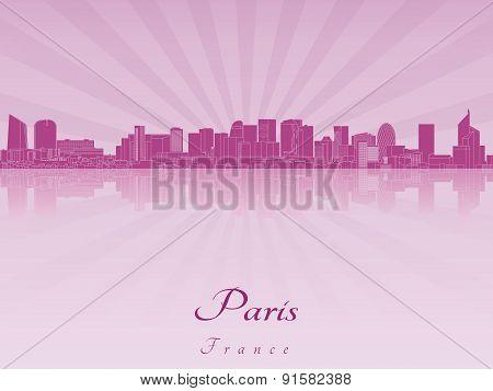 Paris V2 Skyline In Purple Radiant Orchid