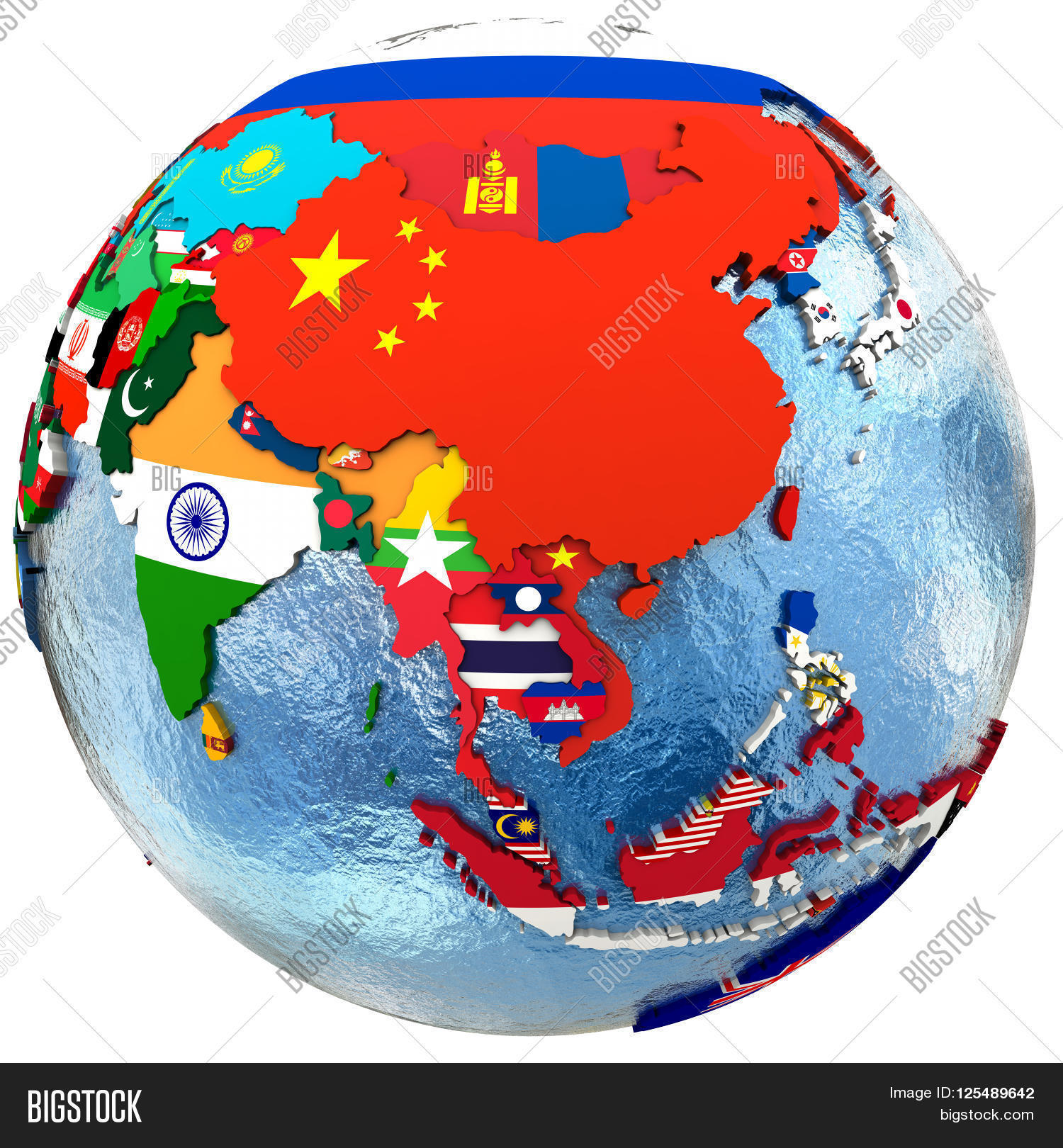 Political map image photo free trial bigstock political map of southeast asia with each country represented by its national flag isolated on gumiabroncs Choice Image
