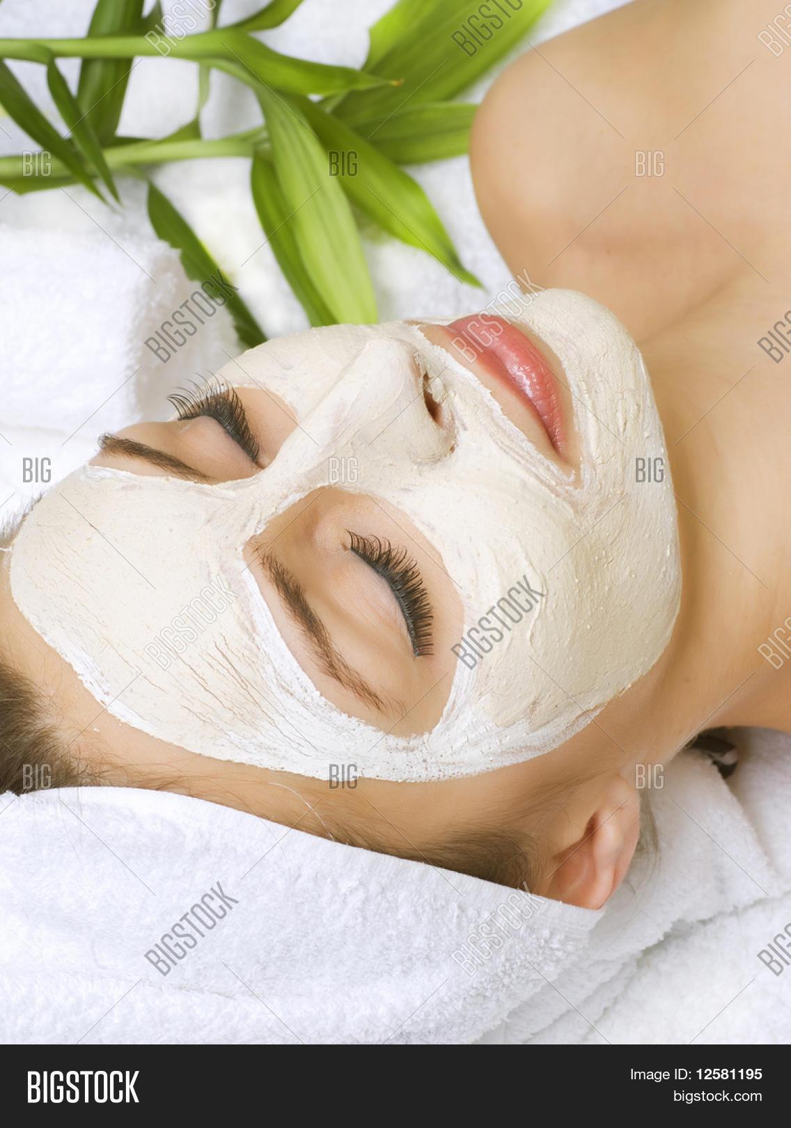 Spa Facial Clay Mask Image Photo Free Trial Bigstock