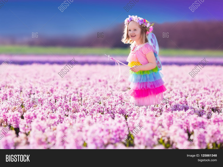 Beautiful Girl Playing Image Photo Free Trial Bigstock