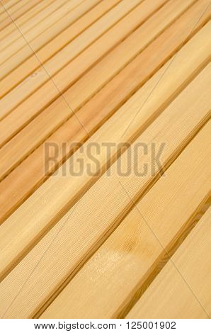 Background Texture Of Clean New Pine Wood Decking Or Flooring With Shallow Depth Of Field
