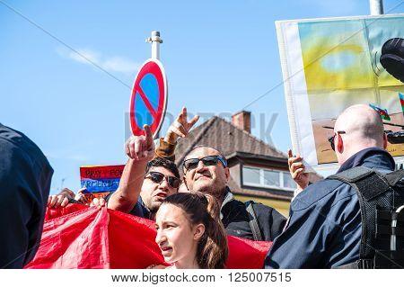 Azerbaijan Armenia Conflict Protest