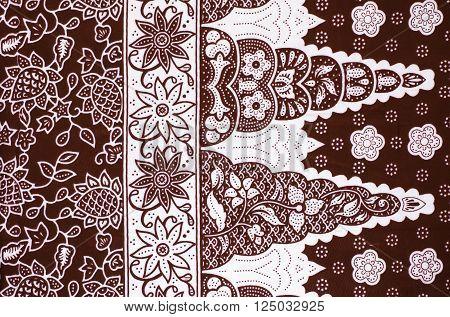Illustration of beautiful pattern Asean traditional batik