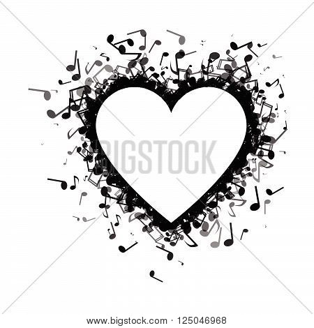 Heart Made Of Of Music Notes