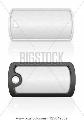 soldier military dog tag vector illustration isolated on white background