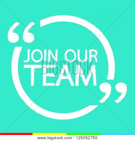 an images of JOIN OUR TEAM Illustration design
