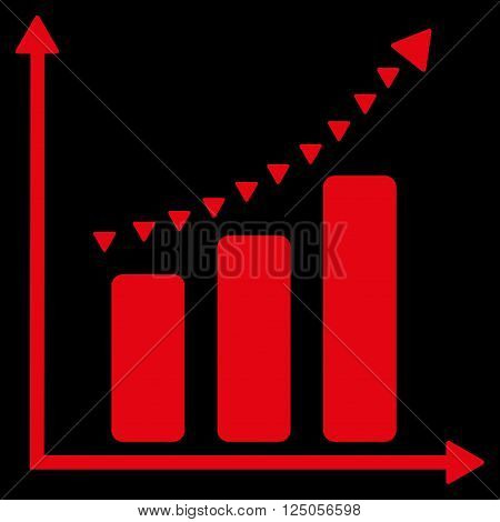 Dotted Positive Trend vector icon. Dotted Positive Trend icon symbol. Dotted Positive Trend icon image. Dotted Positive Trend icon picture. Dotted Positive Trend pictogram.