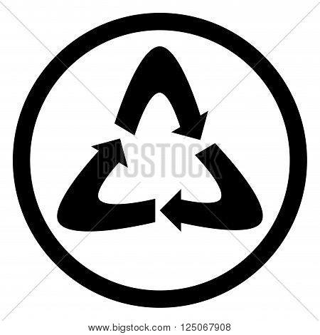 Recycling icon black. Recycle logo and recycle icon recycle symbol and environment eco nature icon. Vector flat design illustration