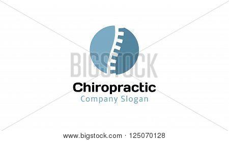 Chiropractic Creative And Symbolic Logo Design Illustration
