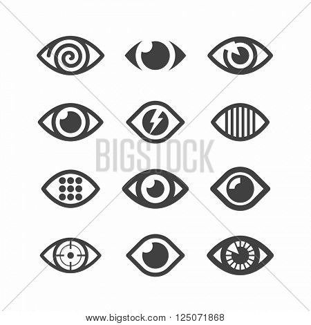 Eye symbol icons vector illustration