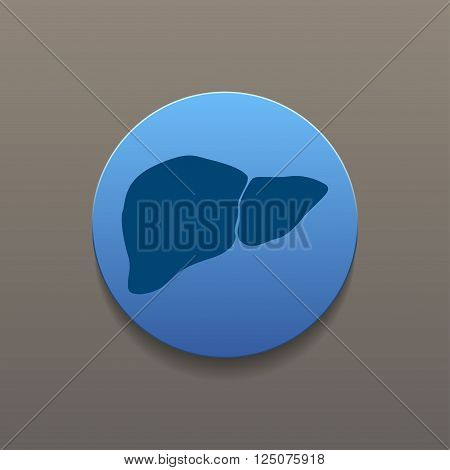 Vector flat liver icon. Flat design style eps 10
