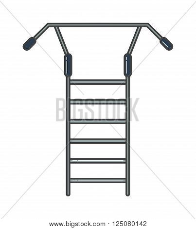 Swedish staircase sports gymnastics ladder or gymnastics wall gym tool vector. Sports ladder vector, sports ladder icon isolated. Sports trainer wall for exercises practise. Gymnastics ladder