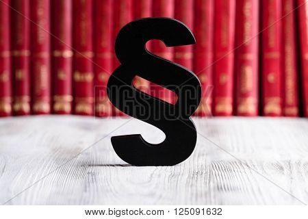 Black Wooden Paragraph The Symbol Of Law