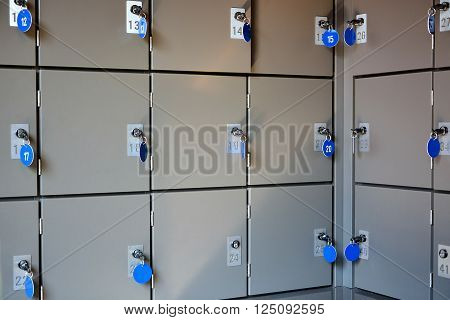 Secure and safe metal lockboxes with keys for storage of luggage