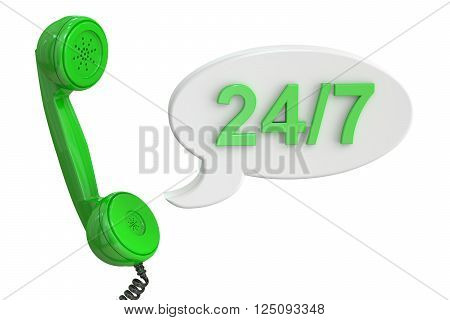 call center concept 3D rendering isolated on white background