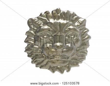3d illustration of lion head. metal head of a lion. jewelry head of lion. gold head of lion. wooden head of lion. transparent head of lion. diamond cracked scratched