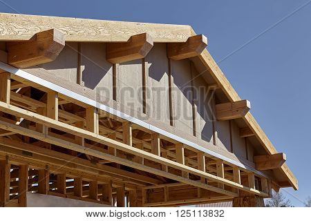 Construction Home Building carpentry gable roof framing detail