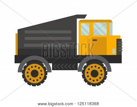 Vector tipper illustration. Vector tipper isolated on white background. Vector tipper icon illustration. Vector tipper isolated vector. Vector tipper symbol