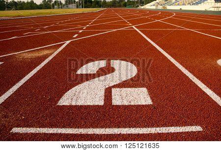 Ground Running, run, running track, run and track ** Note: Shallow depth of field