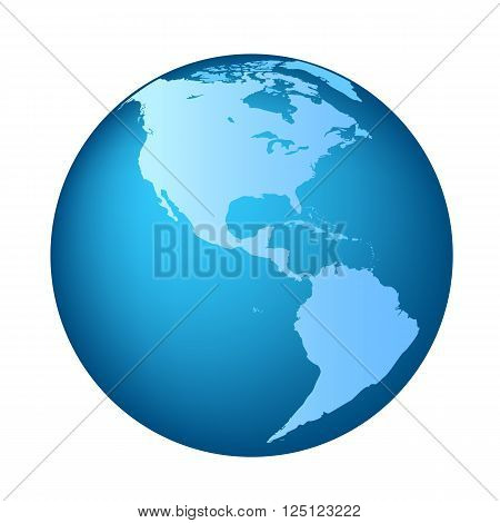 Globe with North and South America continent maps