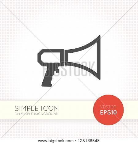 Line designed Megaphone icon. Share icon eps. Megaphone icon vector. Megaphone icon eps. Share icon vector. Megaphone icon jpg. Megaphone icon flat. Megaphone simple icon