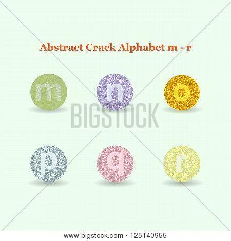 Modern Vector Crack Alphabet. Crack Font. ABC Crack Letters. Modern crack pattern Lettering. Crack Alphabet Lowercase