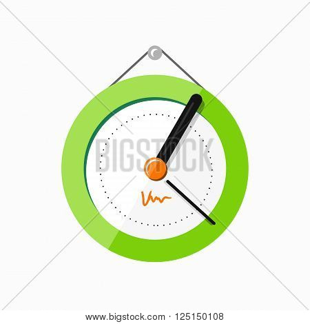 Wall clock logo icon isolated. Watch object, time office symbol. Clock flat icon. Time logo. Watch logo. Clock logo. World time. Clock icon. Clock time vector icon. Timer clock isolated silhouette