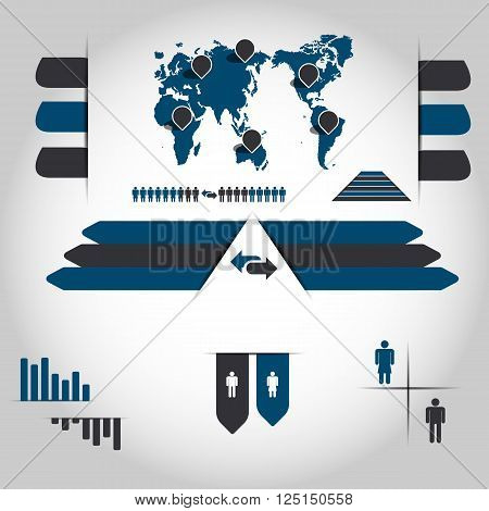 INFOGRAPHIC DEMOGRAPHIC NEW STYLE  for web and other