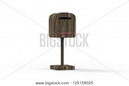 3D Rendering Nice Fasion Mailbox Islated With White