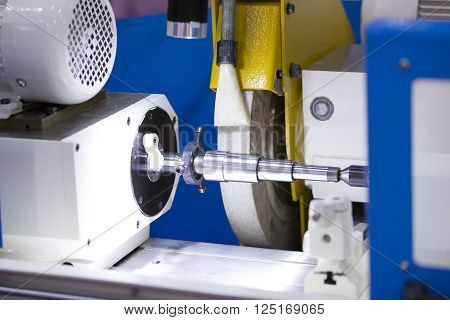 operator grinding forging die parts by high precision grinding machine poster