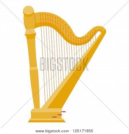 Harp vector illustration. harp isolated vector on white background